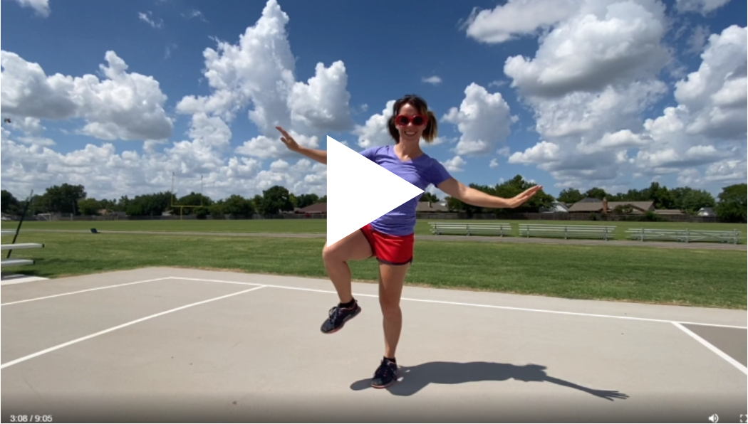 lady with sunglasses balancing on one foot, go to full video