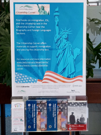 Citizenship-display in Lawton Library