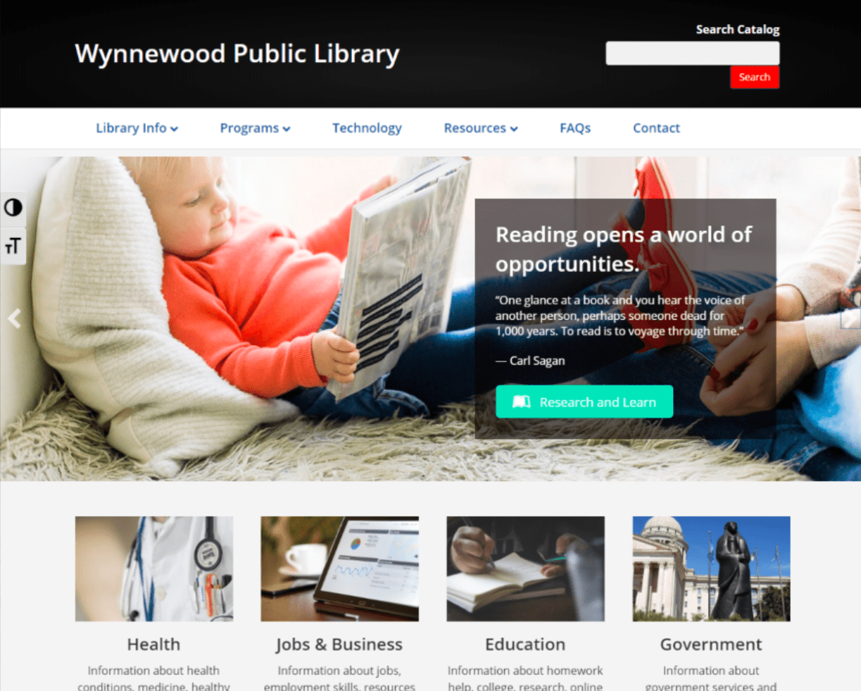 OKPLS Example- Wynnewood Library website
