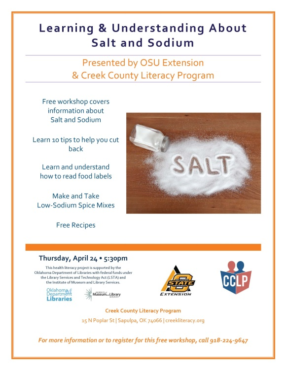 OSU-Ext-workshop- Learning & Understanding about Salt and Sodium