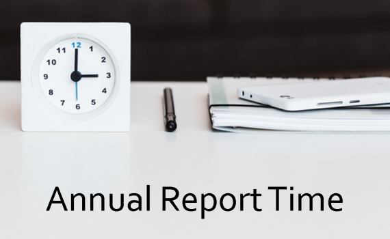 annual reporting time is open