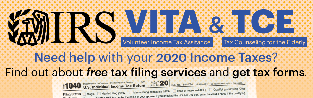 IRS VITA & TCE Free tax filing help