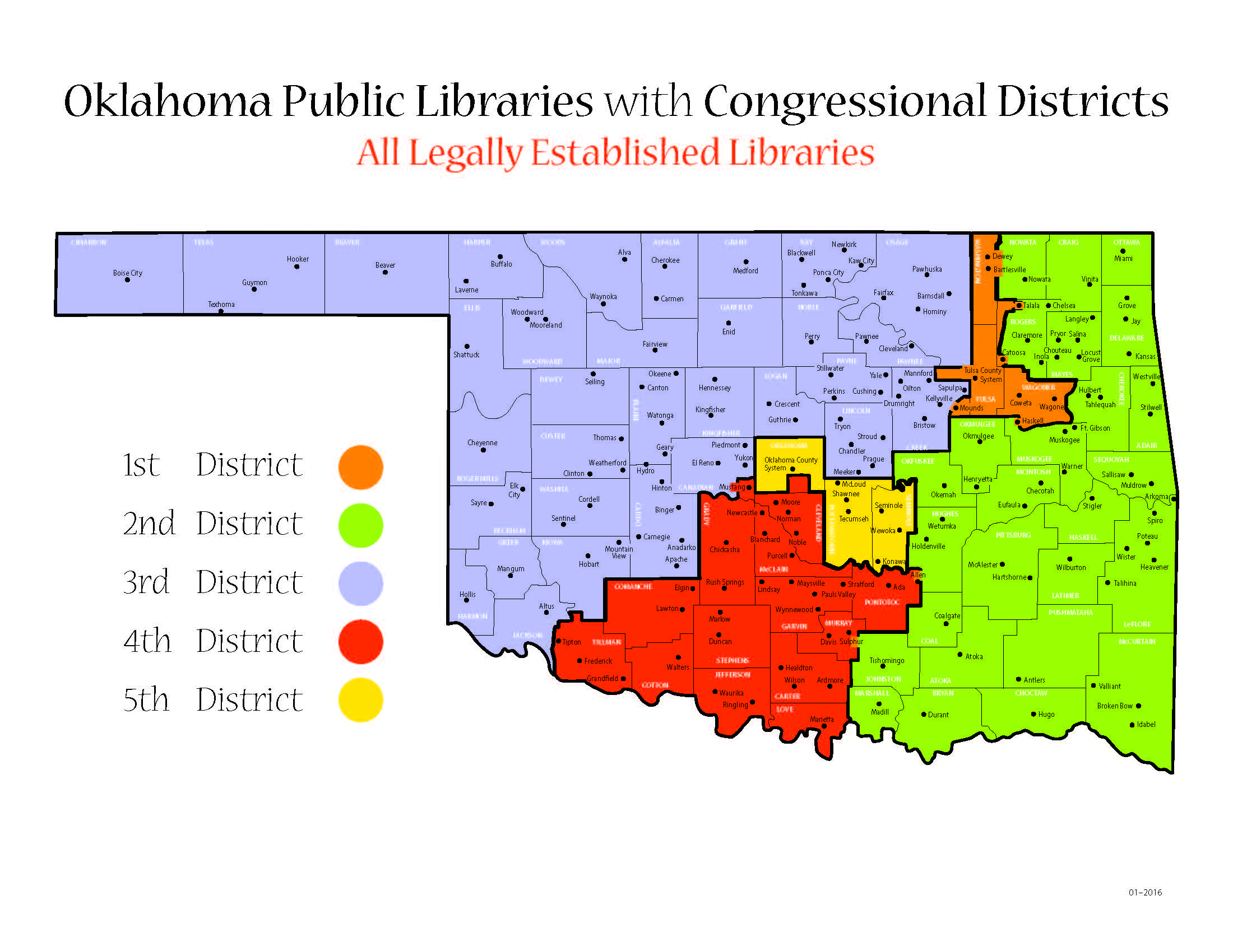 Oklahoma Libraries by Congress District