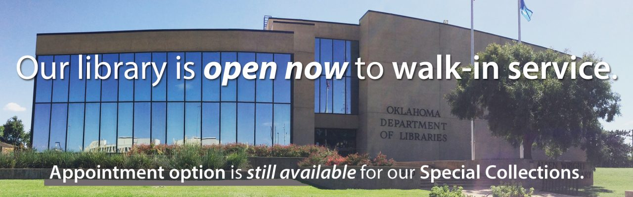 Our library is open now to walk-in service. Appointment option is still available for our Special Collections.