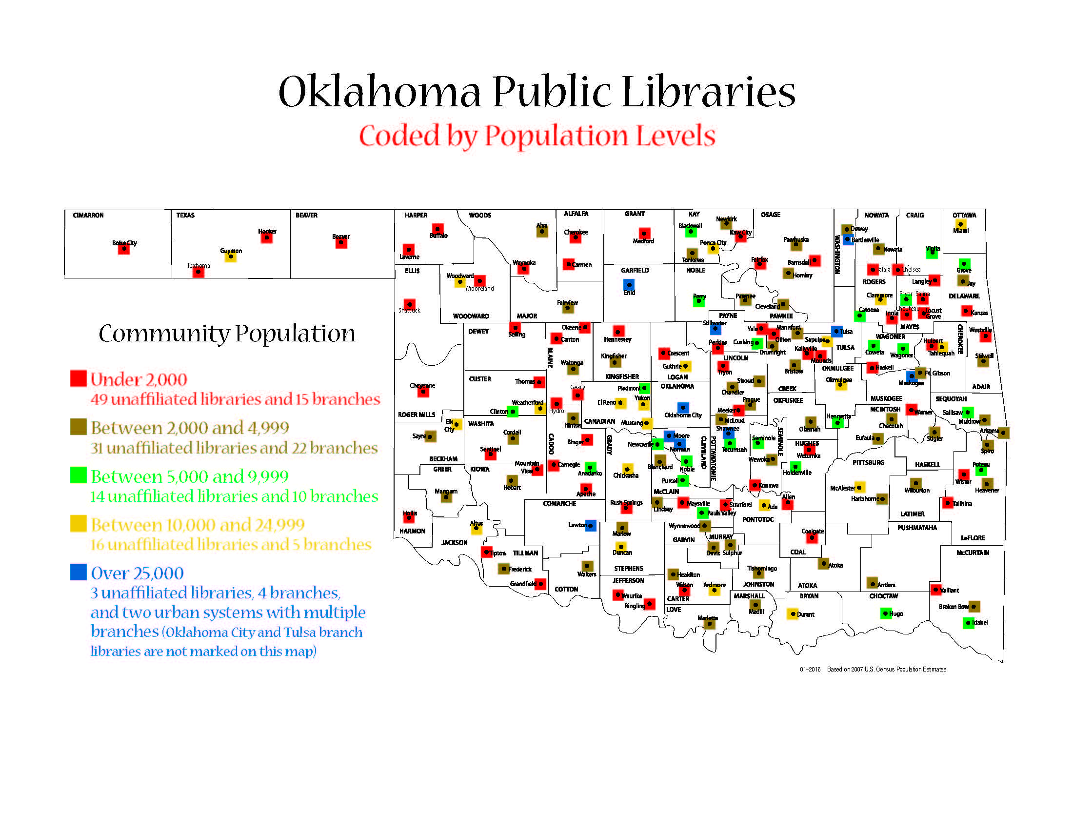 Oklahoma Libraries by Population