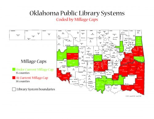 Map of Oklahoma with Millage cap